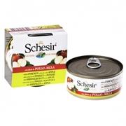 Schesir КУРИЦА С ЯБЛОКОМ  влажный корм консервы для собак