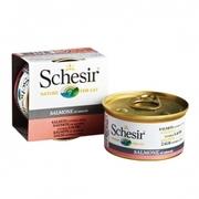 Schesir ЛОСОСЬ в собственном соку влажный корм консервы для кошек