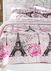 Купить красивое покрывало Eponj Home Fromparis розовое 200*220