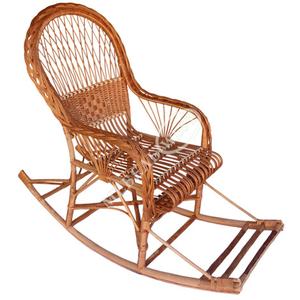 Кресло-качалка из натуральной лозы