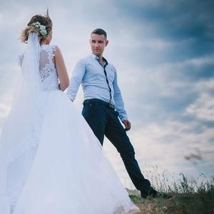 Красивое свадебное плате! недорого
