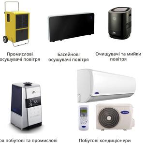Очищувачі повітря та іонізатори